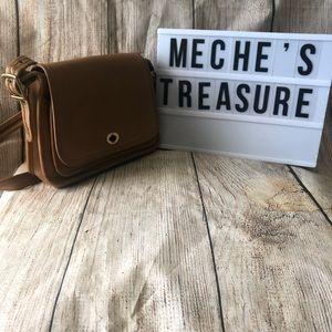 Vintage Coach Tan Leather Small Purse Handbag